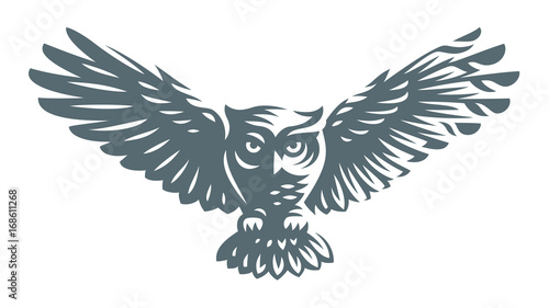 Owl - vector illustration. Icon design on white background