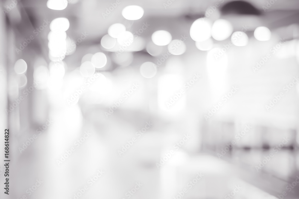 Fototapety, obrazy: Blur store with bokeh background, business background, black and white