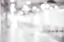 Blur Store With Bokeh Background, Business Background, Black And White