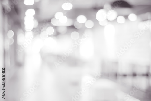 Obraz Blur store with bokeh background, business background, black and white - fototapety do salonu