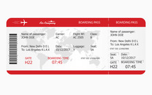 Airplane Ticket. Boarding Pass...