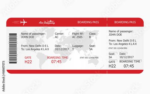 Fotografía  Airplane ticket. Boarding pass ticket template