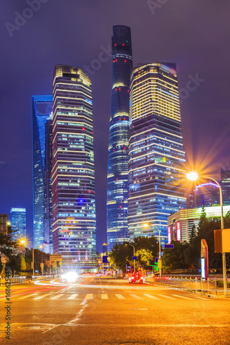 Tuinposter Tokio Architectural scenery and skyline of Shanghai