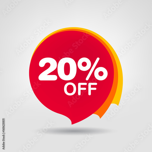 Photo  20% OFF Discount Sticker