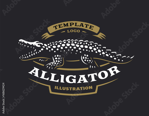 Crocodile logo - vector illustration Wallpaper Mural