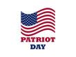 Patriot Day US flag on white background. Memorial day 9/11. Vector illustration