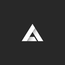 Triangle Logo Gradient White S...