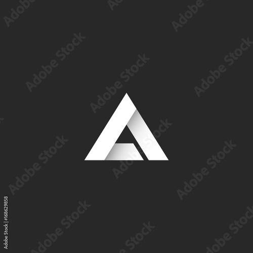 Triangle Logo Gradient White Stripe Style Sharp Corner Geometric