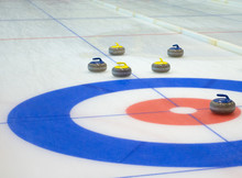 Curling Stones Equipment On Th...