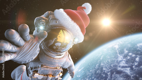 Fotografija Santa in space, 3d render