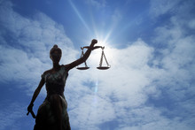 Silhouette Of Lady Of Justice ...