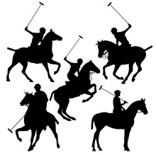 Polo Horsemen Silhouette Set -...