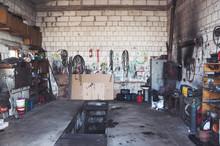 A Garage For Trucks Repairing ...