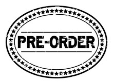 Grunge Black Pre Order Oval Ru...