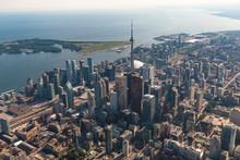 Aerial View Of Downtown Toronto City Skyline