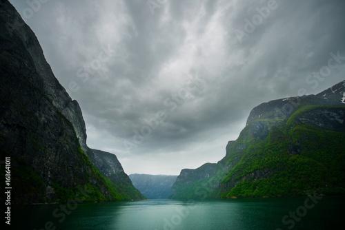 Fotobehang Zwart Fjords, Norway