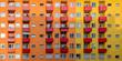 Leinwanddruck Bild - Bunte Hausfassade in Berlin-Moabit