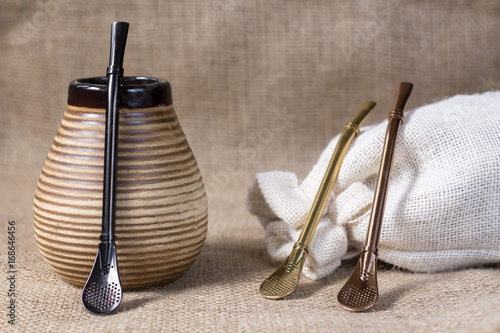 yerba mate with accesories