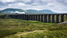 A Steam Train On Ribblehead Vi...