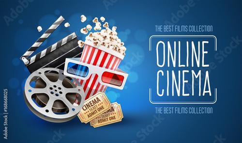kino-online-plakat-promujacy-w-niebieskich-barwach