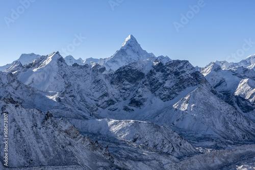 Ama Dablam mountain landscape Poster