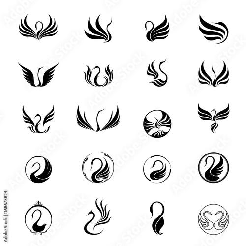 Fotografie, Obraz swan logo