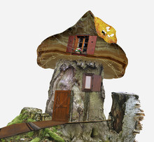 Fairy-tale House Of Stump With...