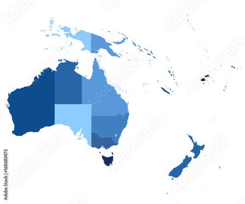 Fototapeta Oceania Map