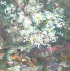 Plakat Still-life with white flowers