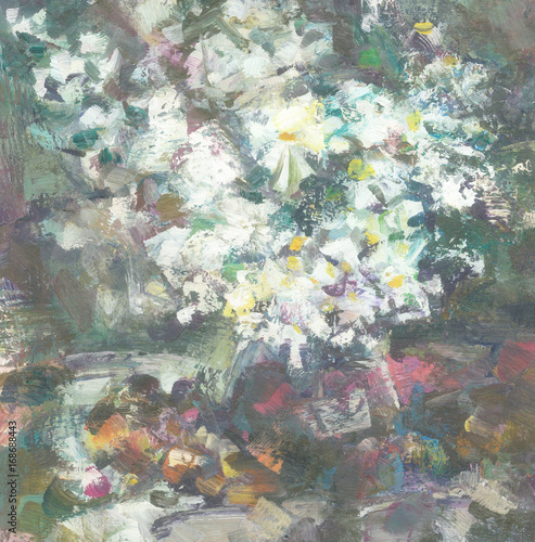 Still-life with white flowers - 168688443