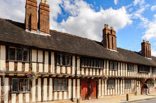 Half-timbered house of Stratford Upon Avon, a market town in Warwickshire, Engla Canvas Print