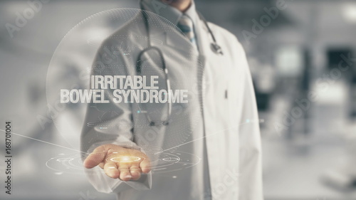 Valokuva  Doctor holding in hand Irritable Bowel Syndrome