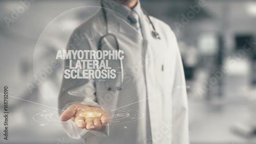 Valokuva  Doctor holding in hand Amyotrophic Lateral Sclerosis