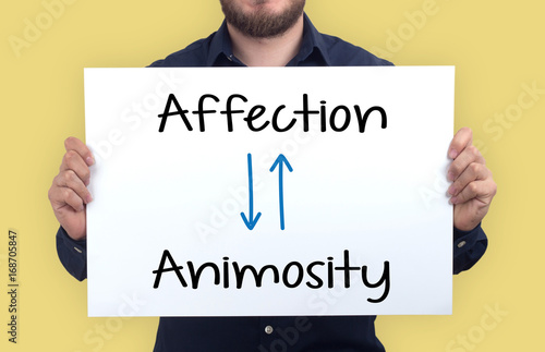 AFFECTION-ANIMOSITY CONCEPT Canvas Print