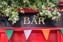 Bar Sign With Flowers And Iris...