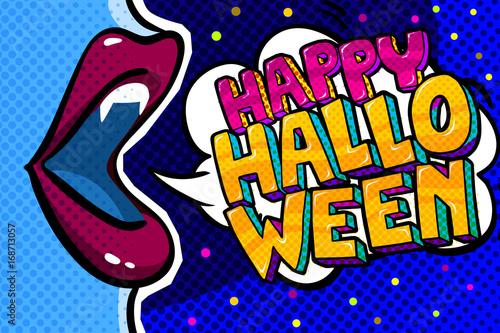 Zdjęcie XXL Otwórz usta i wiadomość Happy Halloween