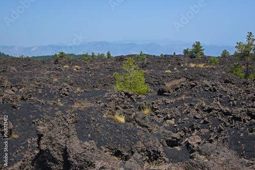 Deurstickers Vulkaan Etna,Sicile