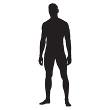 Man Standing Vector Silhouette