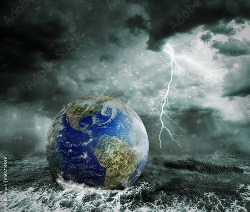 Fototapety, obrazy: Global warming and apocalypse concept