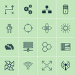 Learning Icons Set. Collection Of Analysis Diagram, Recurring Program, Mainframe And Other Elements. Also Includes Symbols Such As Design, Information, Network.