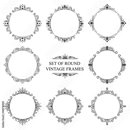 Set of eight decorative vintage frame - Buy this stock vector and ...