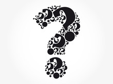Question Mark Cloud Formed From Many Question Marks Collage, Business Concept Background