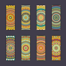 Banner Card Set With Floral Co...