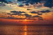 Beautiful sunrise over the sea and colorful sky