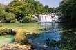 Krka River Park Falls Famous Body of Water in Croatia Beautiful Summer Destination