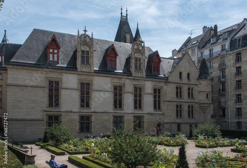 Spoed Foto op Canvas Artistiek mon. Hôtel de Sens, monument historique de Paris