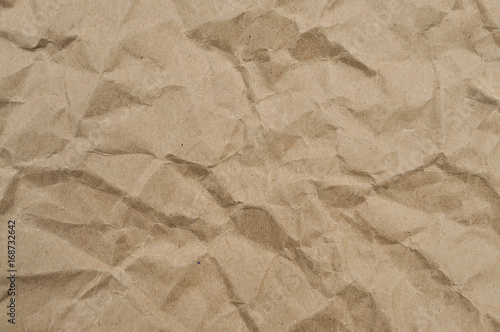 Fotografia, Obraz  Texture of brown crumpled paper