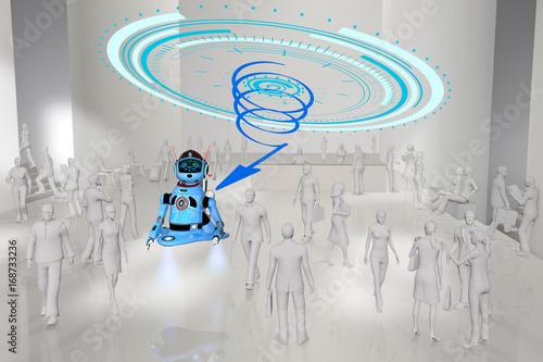 Fotografering  Robot et robotisation travail et entreprise