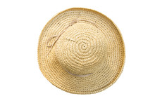 Pretty Straw Hat With Bow On W...
