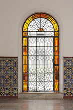 Stained-glass Window In Orange Color